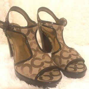 Brown Coach Sandals